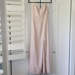 NWT Dessy Collection Crisscross seam crepe gown
